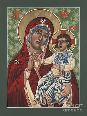 Painting - Our Lady Of Maryknoll 100th Anniversary Icon 223 by William Hart McNichols