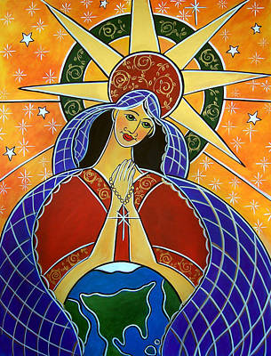 Painting - Our Lady Of Mercy by Jan Oliver-Schultz