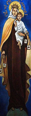 Our Lady Of Mt Carmel Painting - Our Lady Of Mt. Carmel by Valerie Vescovi