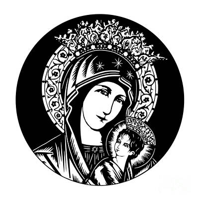 Our Lady Of Perpetual Help - Detail - Dpopd Art Print