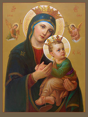 Jesus Christ Icon Painting - Our Lady Of Perpetual Help - Perpetuo Socorro by Svitozar Nenyuk