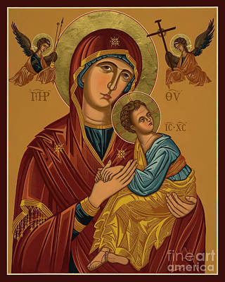 Painting - Our Lady Of Perpetual Help - Virgin Of Passion - Jcpph by Joan Cole