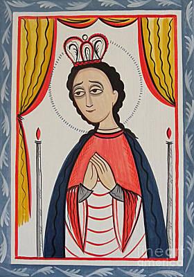 Painting - Our Lady Of San Juan De Los Lagos - Aojul by Br Arturo Olivas OFS