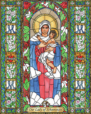 Painting - Our Lady Of Schoenstatt by Brenda Nippert