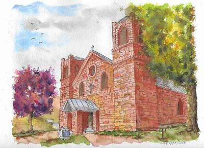 Our Lady Of Sorrow Catholic Church, Las Vegas, New Mexico Art Print by Carlos G Groppa