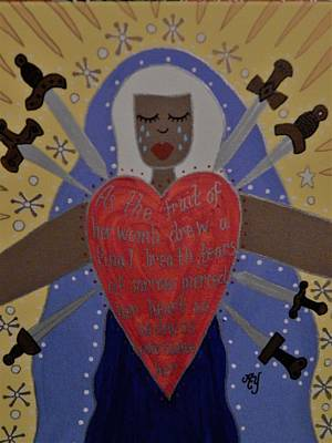 Painting - Our Lady Of Sorrows by Angela Yarber