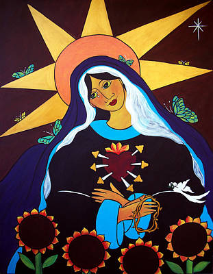 Painting - Our Lady Of Sorrows by Jan Oliver-Schultz
