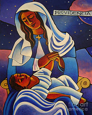 Painting - Our Lady Of The Divine Providence - Mmold by Br Mickey McGrath OSFS