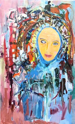 Painting - Our Lady Of The Left Eye by Rojo Chispas