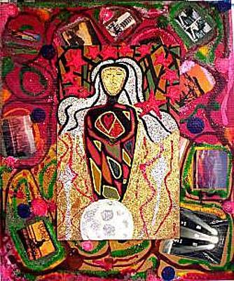 Mixed Media - Our Lady Of The Light by Michael Puleo