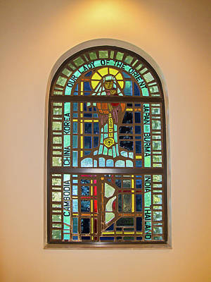 Photograph - Our Lady Of The Orient Window by Sally Weigand