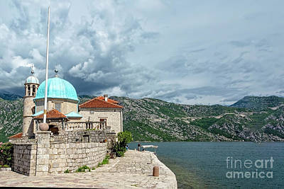 Photograph - Our Lady Of The Rocks, Kotor, Montenegro by Kay Brewer