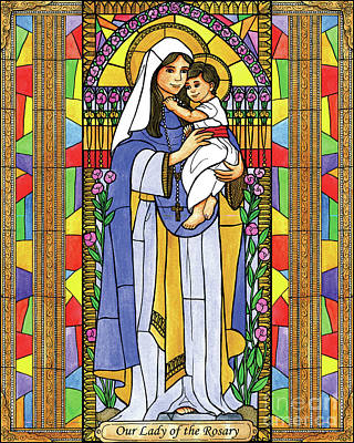Painting - Our Lady Of The Rosary by Brenda Nippert
