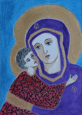 Painting - Our Lady Of Vladimir Modern by Vera Smith