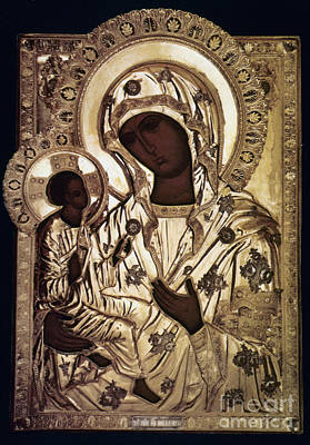 Russian Icon Photograph - Our Lady Of Yevsemanisk by Granger