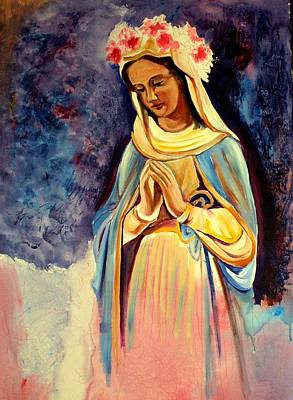 Our Lady Queen Of Mercy Art Print
