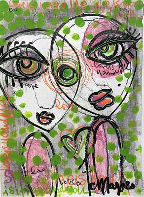 Painting - Our Love Is Like Polka Dots by Laurie Maves ART