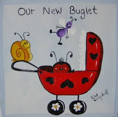 Painting - Our New Buglet by Debra Campbell