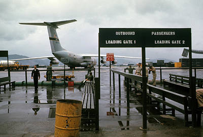 Photograph - Danang Air Base Departure Gate #2 by Robert Holden