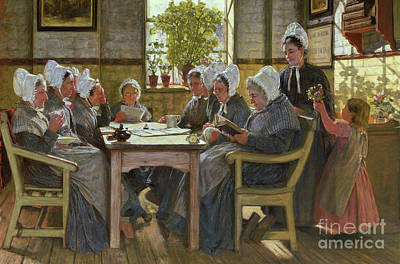 Our Poor  A Bible Reading, Chelsea Workhouse, 1878 Art Print