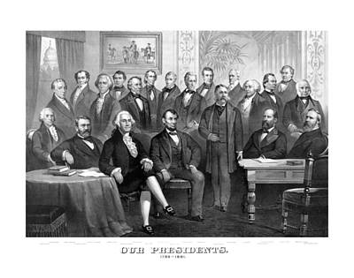 Our Presidents 1789-1881 Art Print by War Is Hell Store