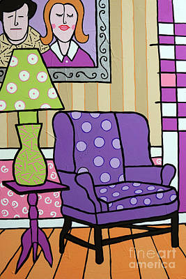 Painting - Our Purple People Seater by Tim Ross