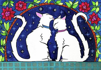 Painting - Our Purrfect Universe by Dora Hathazi Mendes