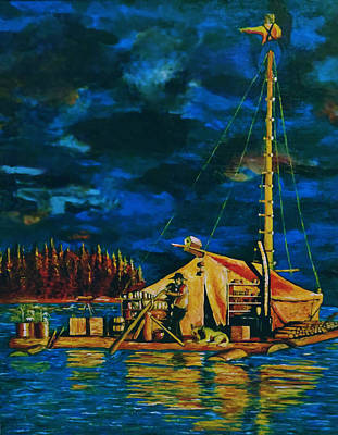 Float Painting - Our Raft by Rick Ritchie