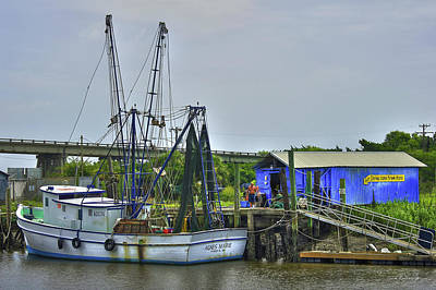 Our Shrimp Come From Here Tybee Island Georgia Art Art Print