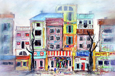 Our Side Of Town Art Print by Tim Ross