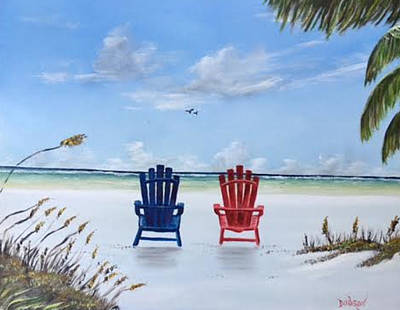 Our Spot On Siesta Key Art Print