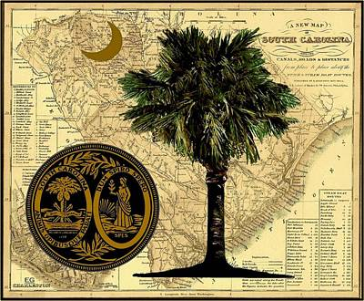 Palmettos Painting - Our State by Eddie Glass