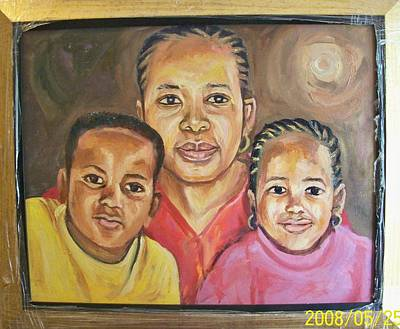 Painting - Our Sweet Mum by Wale Adeoye