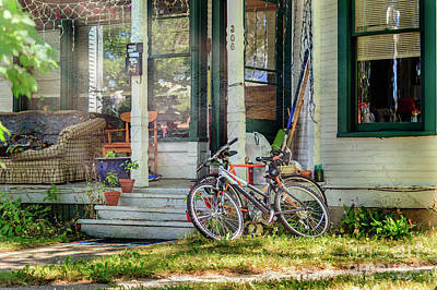 Photograph - Our Town Bicycle by Craig J Satterlee