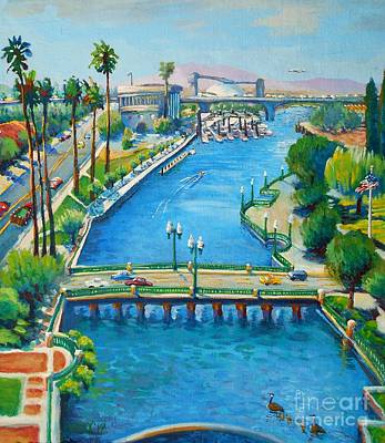 San Joaquin Painting - Our Town by Vanessa Hadady BFA MA