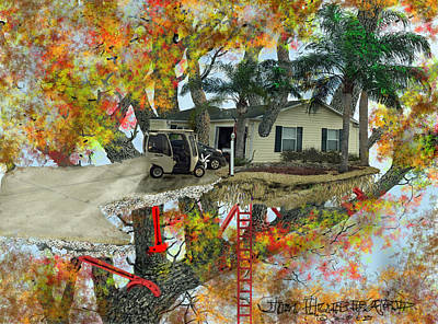 Our Tree House Art Print by Jim Hubbard