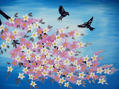 Cherry Blossoms Painting - Our Unending Love by Cathy Jacobs