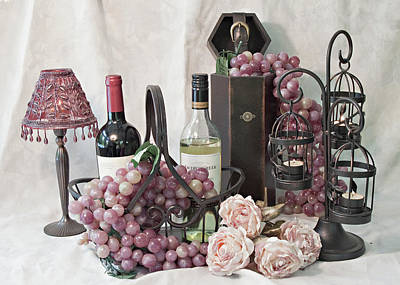 Our Wine Cellar Art Print by Sherry Hallemeier