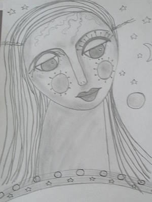 Plato Drawing - Ourania-platos Muse Of Astronomy by Sharyn Winters