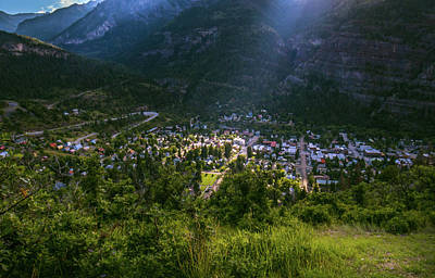 Photograph - Ouray's Morning Light by Linda Unger