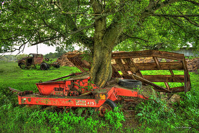 Photograph - Out At Last Case Ih 475 Hay Binder by Reid Callaway