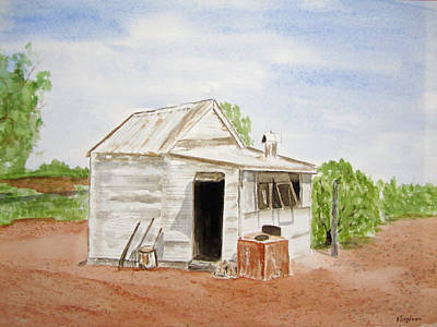 Out Back Kalgoorlie Western Australia Art Print by Elvira Ingram