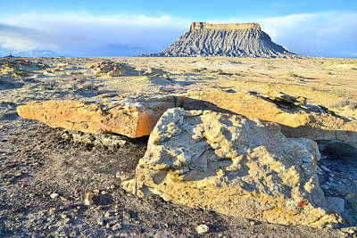 Photograph - Out Back Of Factory Butte by Ray Mathis