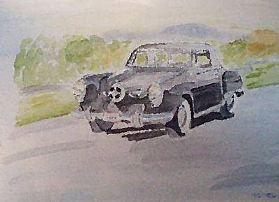 Transportation Painting - Out For A Drive by Nevaeh Originals
