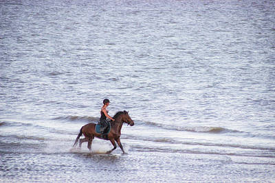 Jockey Photograph - Out For A Gallop by Martin Newman