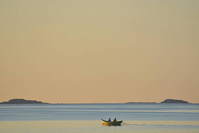 Out For A Morning Row Beverly Ma Art Print by Toby McGuire
