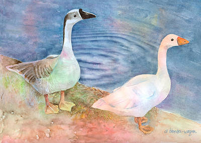 Out For A Stroll Art Print by Arline Wagner