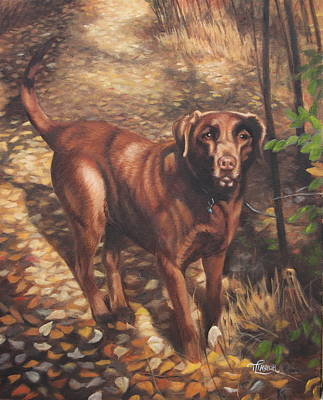 Painting - Out For A Walk #2 by Tammy  Taylor