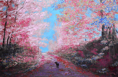 Out For A Walk Spring Art Print by Ken Figurski