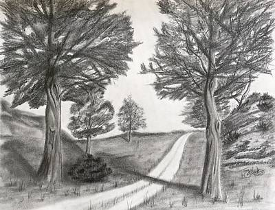 Drawing - Out For A Walk by Tony Clark